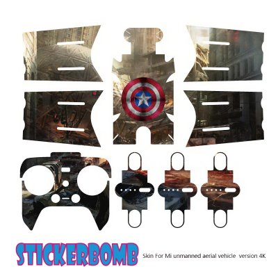 Drone Stickers 4K Version Stickers Scratch proof Protective Film Stickers 1080 for Xiaomi Mi Drone Aircraft