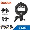 Godox s-type soporte pro s beauty dish bowens montaje para flash speedlite snoot softbox honeycomb
