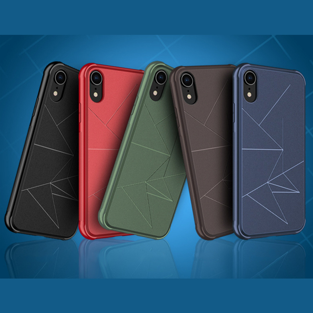 Magnetic Phone Case for iPhone Xr Xs Xs Max 7 8 Plus Case Soft TPU Geometry Magnet Car Holder Case for iPhone 8 X 7 6 6S Plus