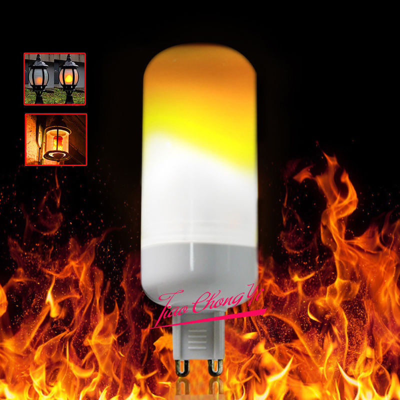 10X 3W LED Flame Effect Simulated Nature Fire Light Corn Bulbs G9 Decoration Lamp - 2