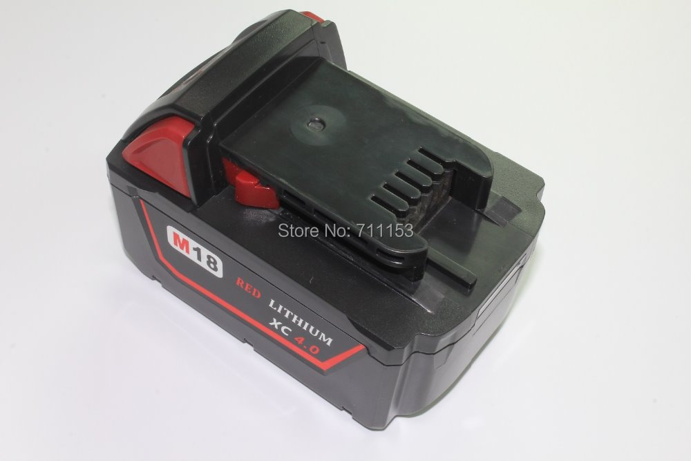 Replacement Power tooll Battery for Milwaukee 18-Volt 4.0Ah 48-11-1828 M18 XC Red Lithium High Capacity battery цена