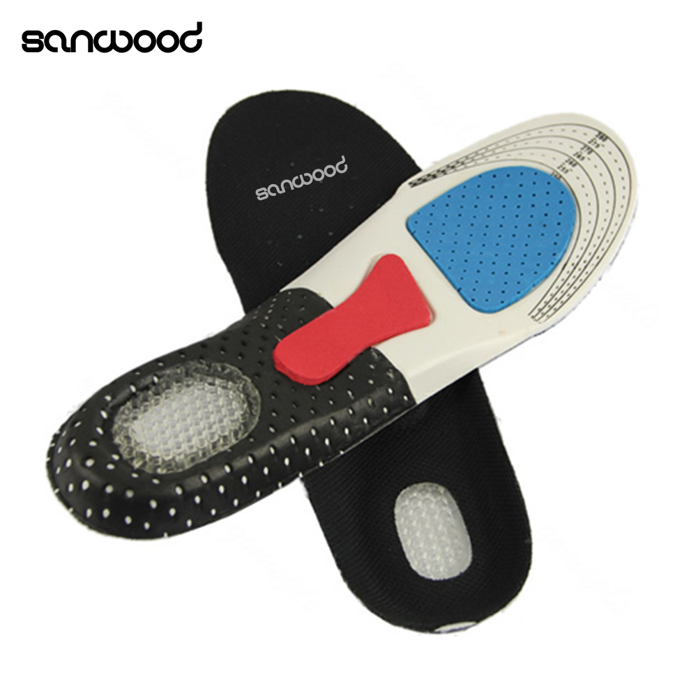 Free Size Unisex High Quality Orthotic Arch Support Shoe Pad Sport Running Gel Insoles Insert Cushion For Men Women Gift