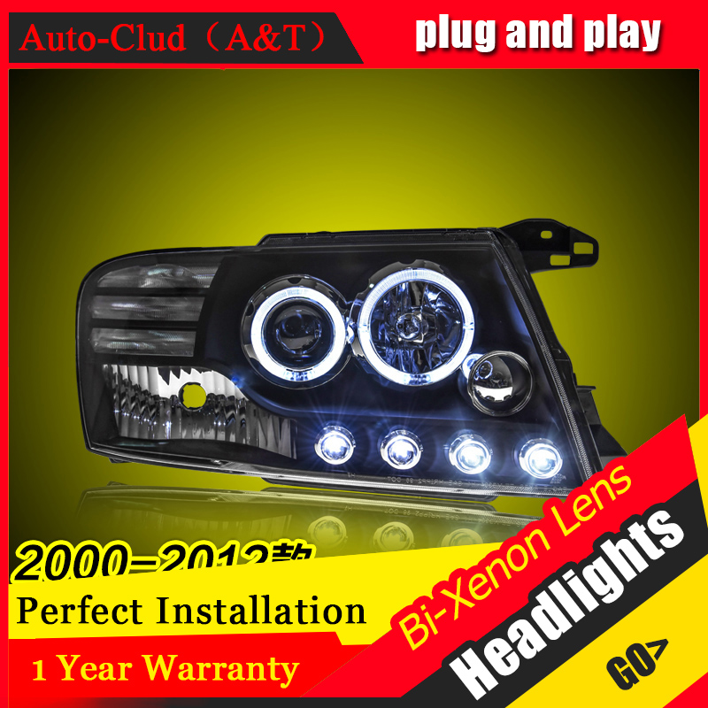 Car Styling For Mitsubishi Pajero V73 led headlights For V73 head lamp Angel eye led DRL front light Bi-Xenon Lens xenon HID KIT electric car motorcycle 15w led headlights modification lens light 12 60v