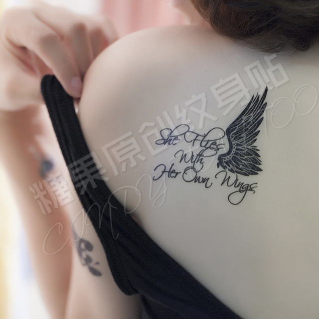 Exclusive New Rose Tattoo Butterfly Wings Large Text Version