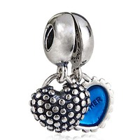 Authentic 925 Sterling Silver Mother & Son Pendant Charm Bead fit for Pandora Bracelets Necklaces