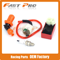 Motorcycle Racing Performance CDI+ Ignition Coil + Spark Plug Fit Gy6 50cc 125cc 150cc XR50 CRF50
