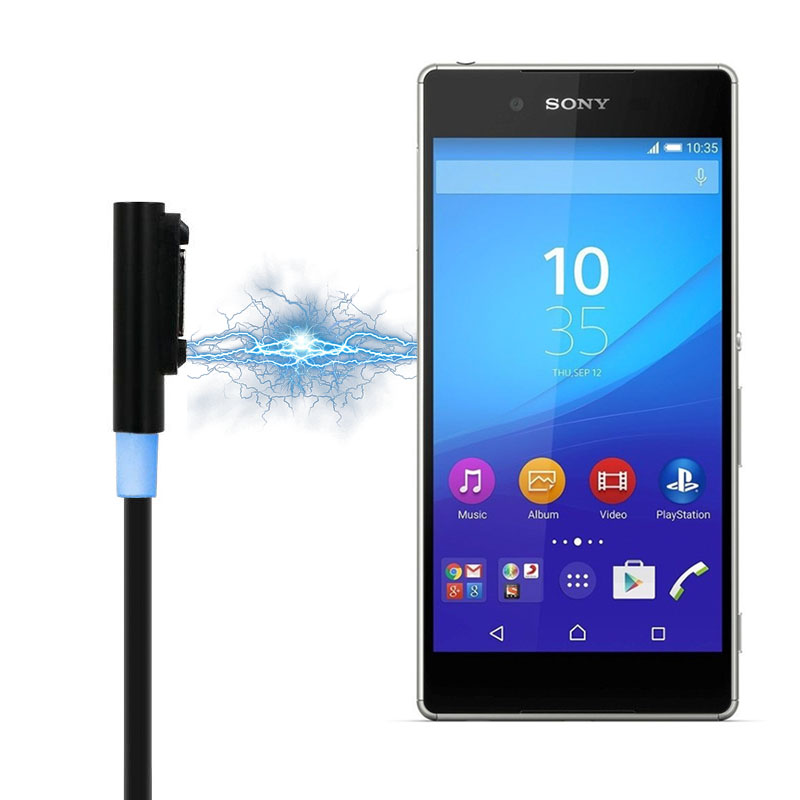 USB Cable Magnetic Charging Cable Battery Charger For Sony Xperia Z3 L55t Z2 Z1