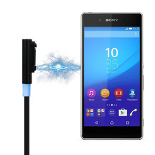 USB כבל טעינה מגנטית כבל סוללה מטען עבור Sony Xperia Z3 L55t Z2 Z1 מגנטי מטענים מתאם נייד טלפון כבלים