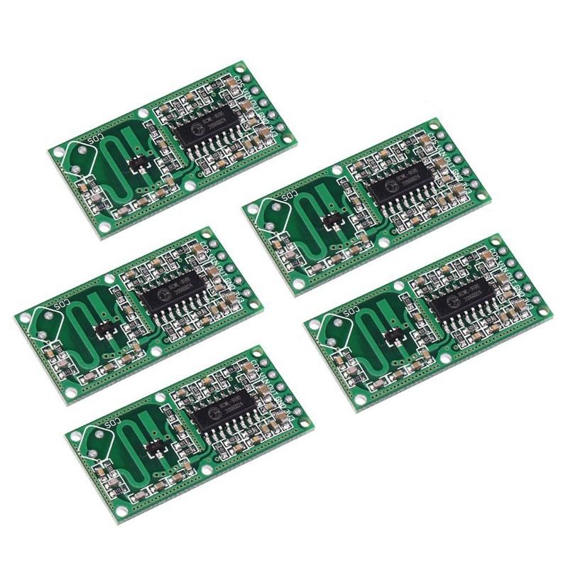 5PCS RCWL-0516 Microwave Radar Sensor Smart Switch Module Human Body Induction Module 5-7M Detection Distance 4-28V 100mA