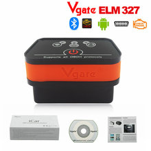 Newest Vgate Wifi iCar2 OBD2 ELM327 iCar 2 wifi vgate OBD code scanner diagnostic interface for IOS iPhone iPad Android 6 color