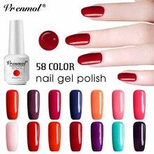 Vrenmol 58 цветов УФ-гель для ногтей Дизайн ногтей гибридные Лаки Французский акриловый гель Перманентная Эмаль Гель для ногтей с блестками лак Gellak
