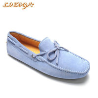 Wholesale Men Shoes Genuine Leather Flats Brown Casual Shoes Brand Designer 8 Colors Cow Suede Summer