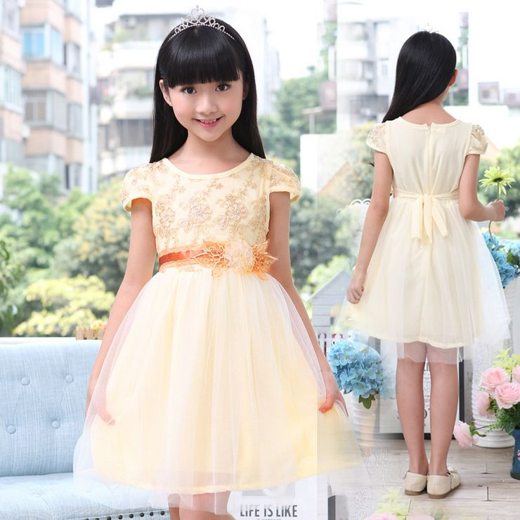 цены New baby girl dress 2016 summer party Short girls tutu dress princess chiffon toddler lace flower clothes vestido