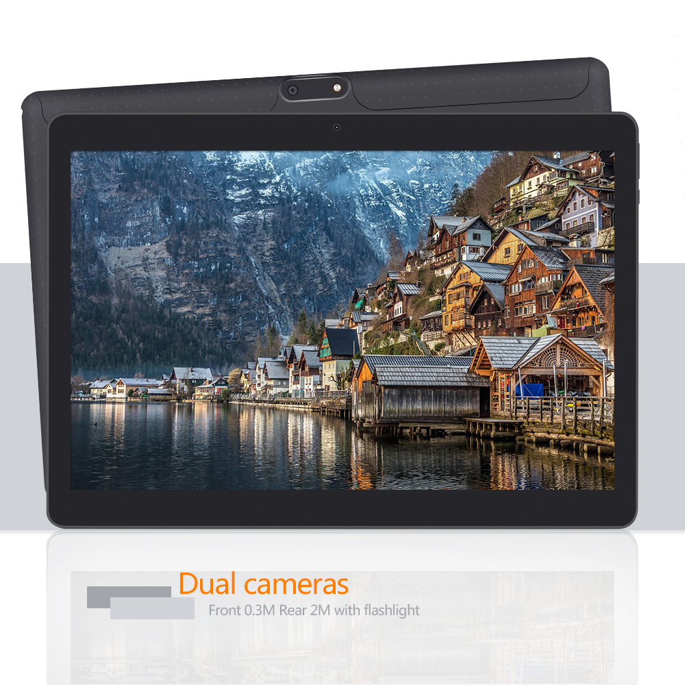 """Yuntab 3 colors 10.1"""" K107 Android 5.1 Tablet 1GB+16GB 3g Quad-Core with Dual Camera support Dual Sim Card 4500mAH battery"""