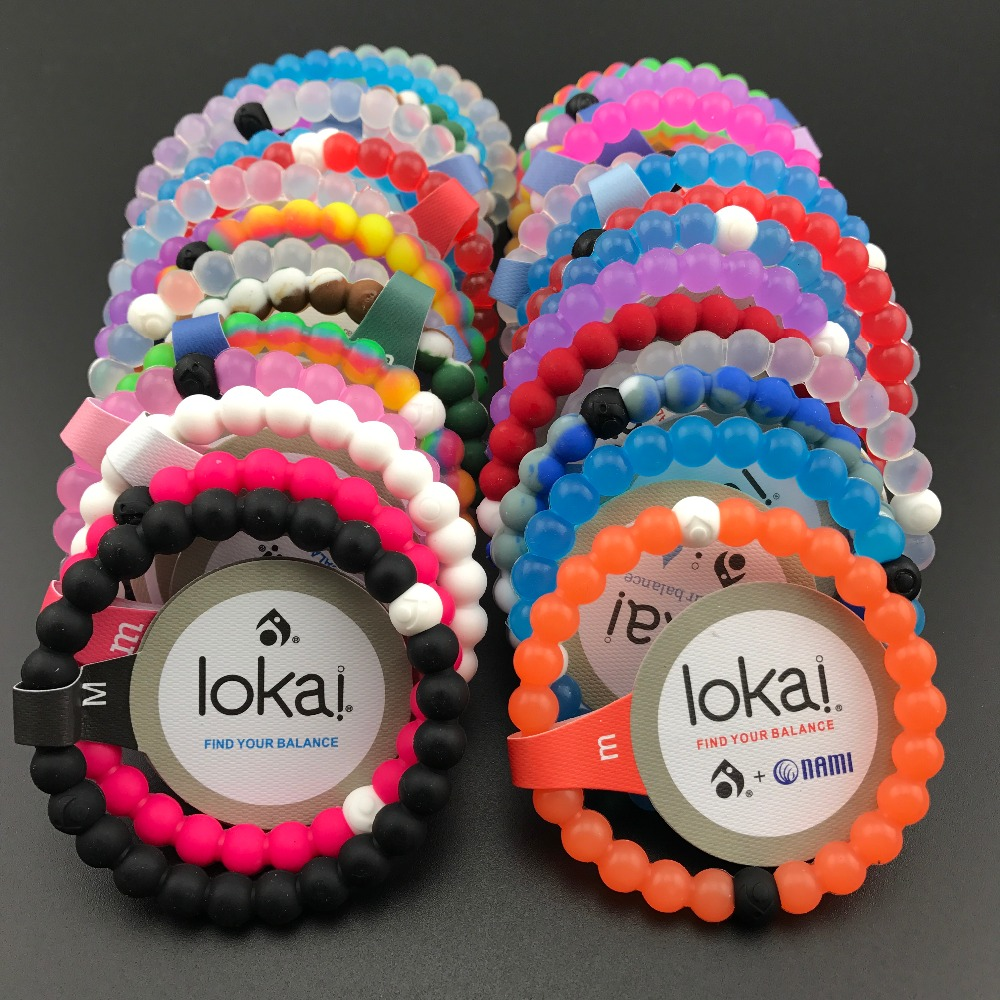 10pcs/lot ePacket free shipping fashion lokai bracelets 47 colors in stocks neon shark for christmas gifts