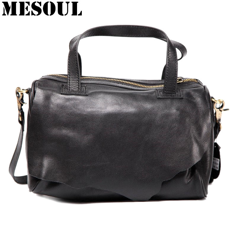 Famous Brands Genuine Leather Sheepskin Women Handbags 2018 New Fashion Design Boston Shoulder Bags For Ladies Crossobdy Bag new weave fashion casual tote genuine leather sheepskin women bags handbags women famous brands fashion shoulder bag ladies sac