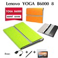 "For Lenovo YOGA B6000 holster lenovo B6000 cases within paragraph 8 "" original package New luxury leather case cover"