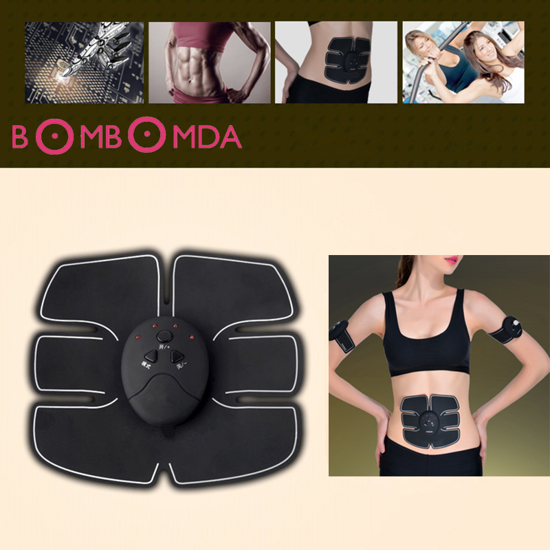 Electric Pulse Treatment Massager Sports Abdominal Muscle Trainer Wireless Sports Muscle Stimulator Fitness Massage InstrumentO2