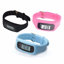 New Lcd Pedometer Sports Monitor Running Exercising Step Counter Fitness Silicone Wristband Smart Wrist Watch Bracelet