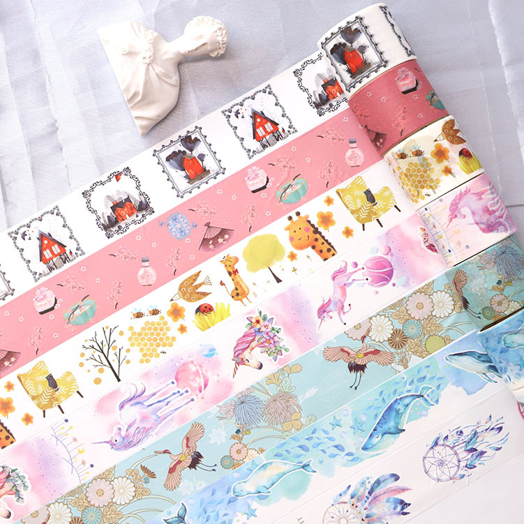 Mohamm Fantasy Forest Series Set Kawaii Planner Handbook Decorative Paper Washi Masking Tape School Art Supplies Stationery
