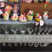 Hot Sale 17PCS/Set Mini Transparent Drink Cups Dish Plate Tableware Miniatures DIY Pretend Play Kitchenware Toy(China)