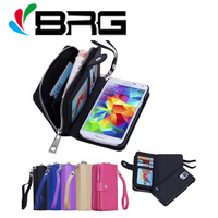 Luxury BRG Handbag Wallet Leather Case For Samsung Galaxy S3 S4 S5 Neo S6 edge S7 S7 Edge S8+ Note 4 5 8 Magnet Flip Cover