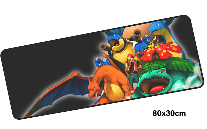 Pokemons mousepad gamer 800x300X3MM gaming mouse pad large Cartoon notebook pc accessories laptop padmouse ergonomic mat