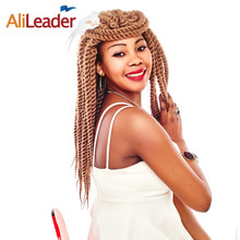 AliLeader Havana Twist Crochet Braids, Black Grey Silver Burgundy Crochet Twist Hair Braid Heat Resistant Synthetic Hair Weave(China)