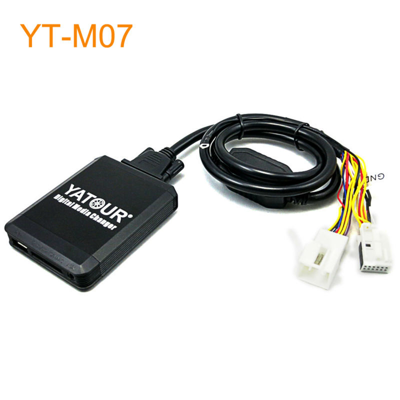 Yatour M07 Car MP3 USB SD CD Changer for iPod AUX with Optional Bluetooth for Audi for Skoda for VW for Seat yatour car adapter aux mp3 sd usb music cd changer 8pin cdc connector for renault avantime clio kangoo master radios