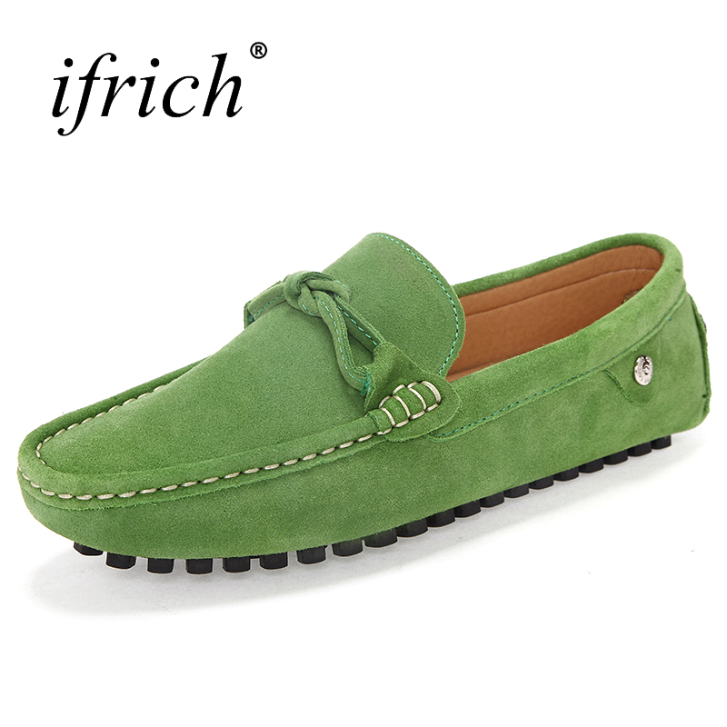 Ifrich 2017 Νέοι άνδρες τάσης Loafers Suede Slip - Ανδρικά υποδήματα - Φωτογραφία 5