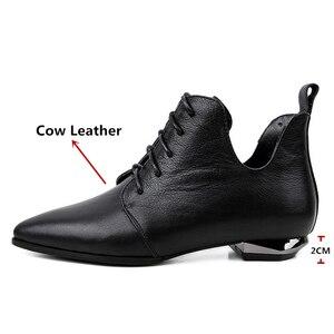 Image 3 - Fedonasファッション女性アンクルブーツcorss縛ら低かかと秋の女性靴女性ポインテッドトゥパーティーウエディングパンプス女性 2021 ブーツ