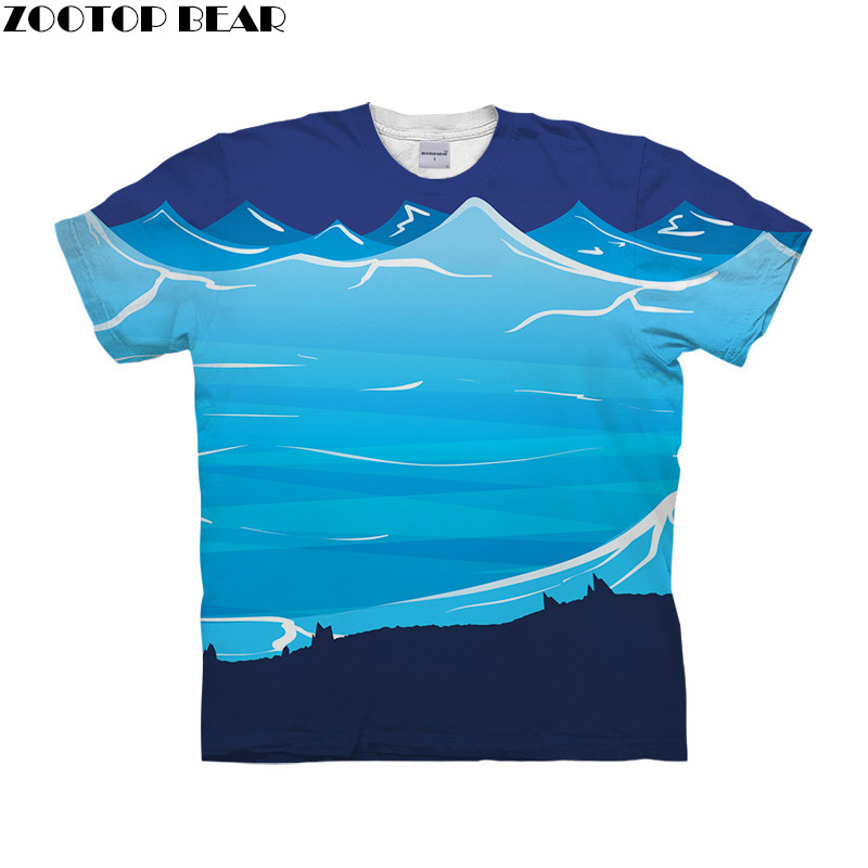 Blue Cartoon Style Men T Shirt 3D Printed Quick Dry Male Shirts rick and morty Fitness Tees Men's Breathable Casual ZOOTOPBEAR