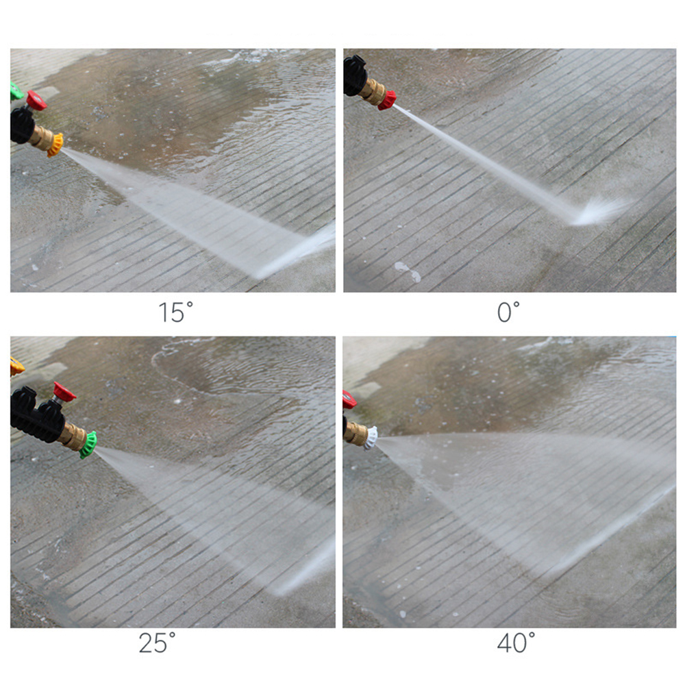 """Image 5 - 5pcs/Set 1/4"""" Quick Connector Car Washing Nozzles High Pressure Washer Nozzle Metal Jet Lance Spray Nozzle-in Water Gun & Snow Foam Lance from Automobiles & Motorcycles"""