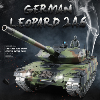 1:16 German Leopard 2 A6 RC Main Battle Tank 2.4GHz Multi-frequency remote control tank best gift for Military fans and child Honda CBR250R