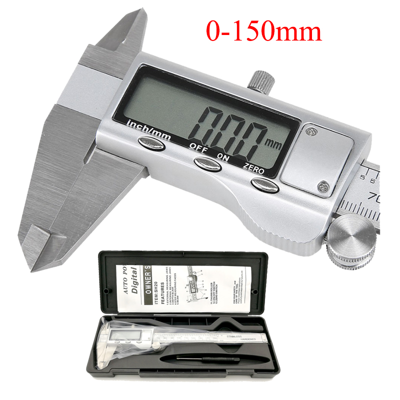 Metal 6 Inch 150mm Stainless Steel Electronic Digital Vernier Caliper Micrometer Measuring Tool Caliper