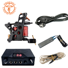 Free Shipping Cheapest Popular Top Quality Tattoo Machine Beginner LED Tattoo Power Tattoo Kit