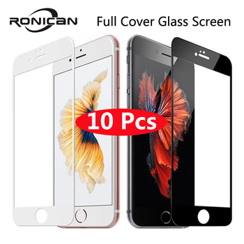 10Pcs 9H Full Cover Tempered Glass For iPhone 6 6s 7 8 Plus Screen Protector Protective Film For iPhone X XS Max XR 5 5s 5c SE