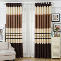 2 Pieces/Lot Customized Curtains!Thickening Windproof High grade Linen Cotton Blending Fashion Solid Color String Curtain