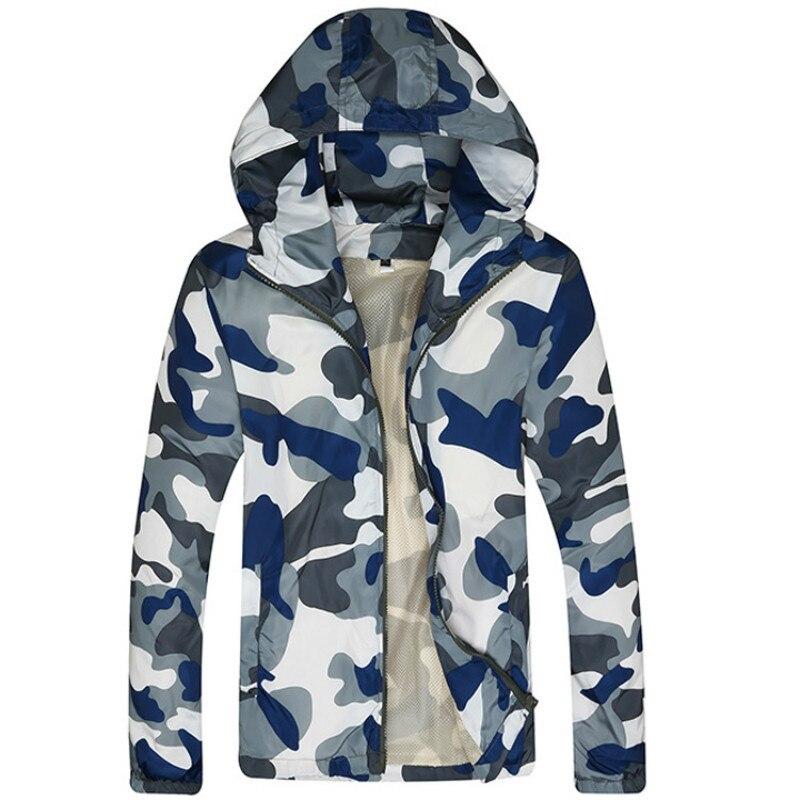 迷彩ジャケット男性ファッションフード付きコートスリムフィット男性ウインドブレーカーカジュアルブランド服上着メンズストリートジャケット