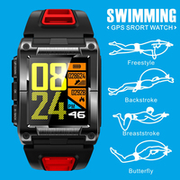 S929 GPS Sport IP68 Waterproof Swimming Smart Watch Heart Rate Monitor Thermometer Altimeter Color Screen Smartwatch