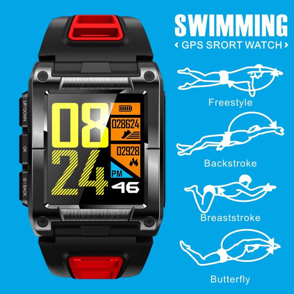 8b8f2e2697b3 S929 GPS deporte IP68 impermeable nadar reloj inteligente Monitor de ritmo  cardíaco termómetro altímetro Color pantalla Smartwatch