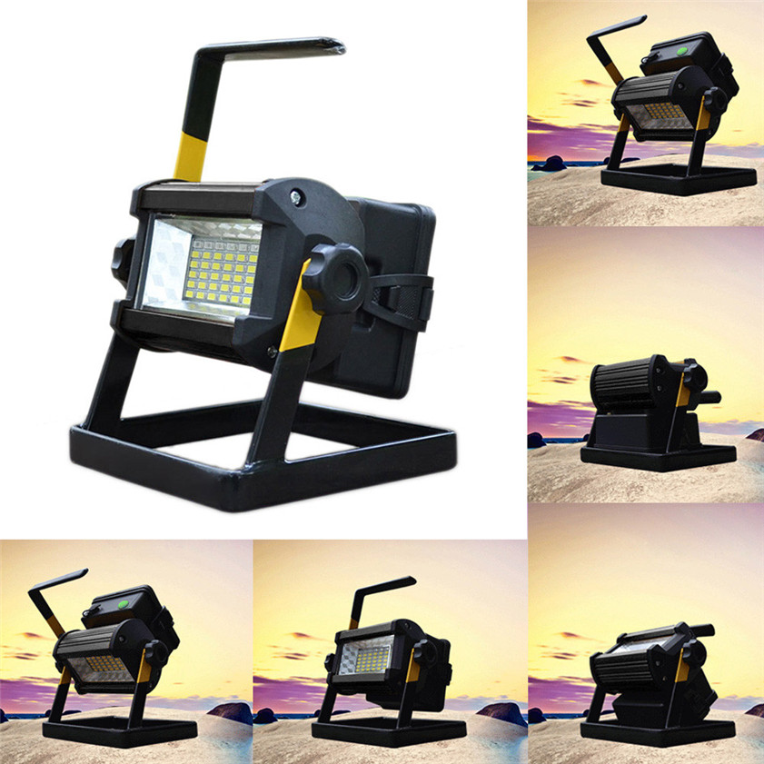 High Quality 50W 36 LED Portable Rechargeable Flood Light Spot Work Camping Fishing Lamp