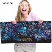 League Of Legends Babaite 2017 caliente Gaming Ratones de la Estera Mousepad Del Ordenador Portátil Óptico de Velocidad de Impresión de Papel Tapiz Alfombra de Juegos de Goma Suave