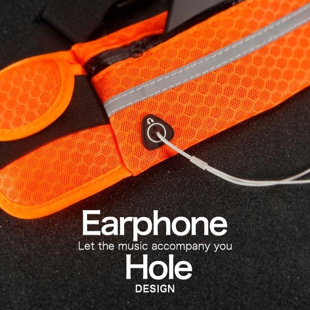 Adjustable Waterproof Fitness Belt Pack Mobile Phone Holder For Jogging