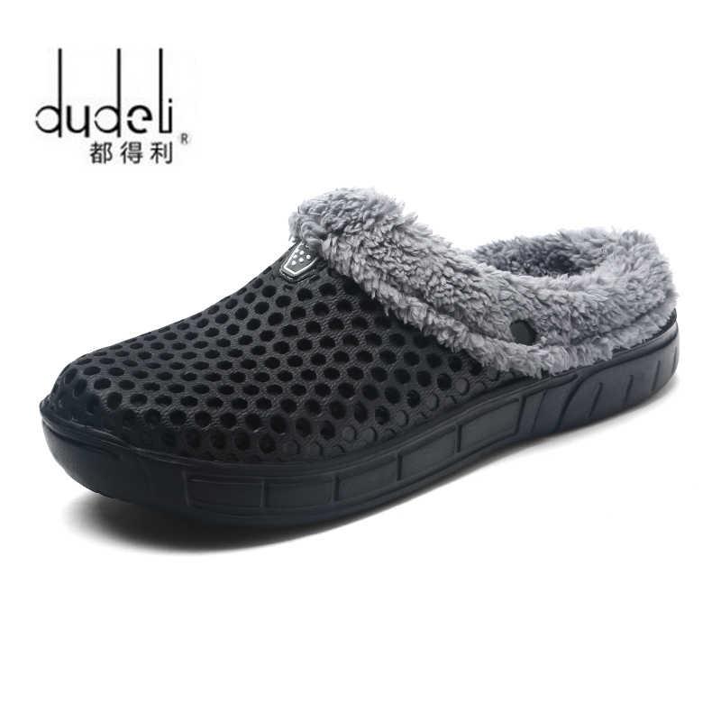 2020 חורף חם נעלי בית נשים & גברים נעליים מקורה כותנה Pantoffels מזדמן כרכום כפכפים עם פרווה קל/כיבוי בית רצפת נעלי בית