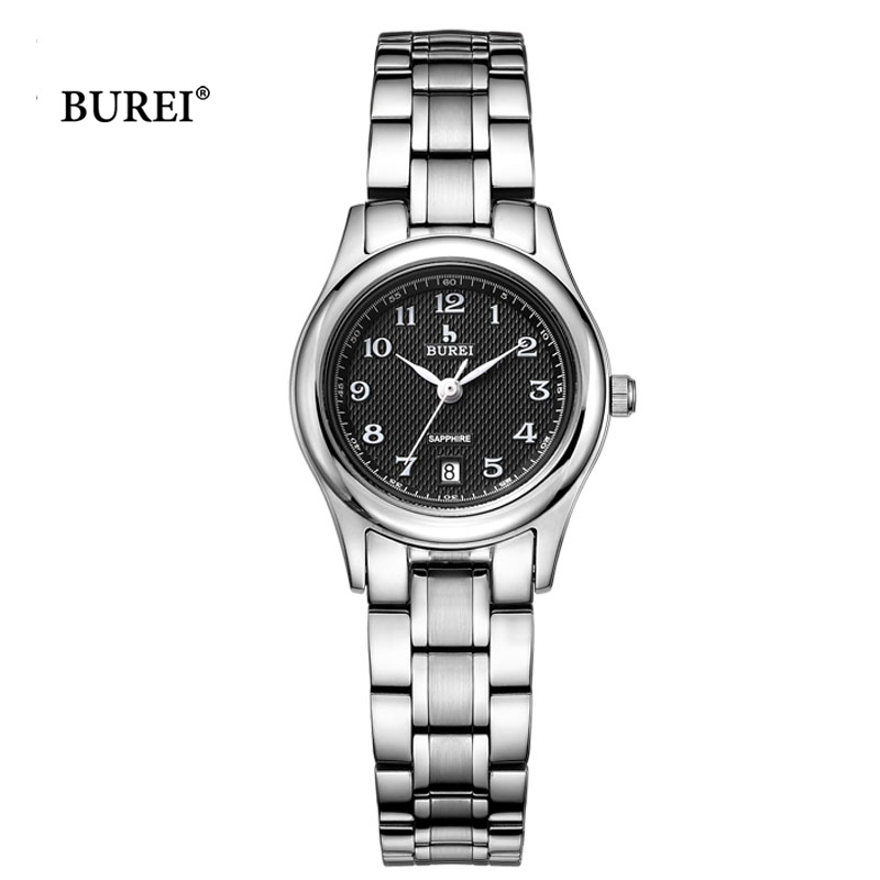 BUREI Brand Watches Waterproof Fashion Date Display Womens Business Quartz Wrist Watch Clock Women Relojes 2017 Relogio Feminino