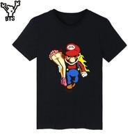 Super MarioRun Cartoon Game T Shirt Men Hip Hop Short Sleeve TShirts And T Shirt Men