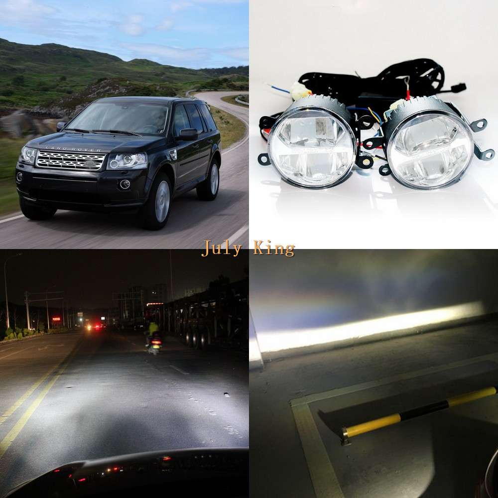 Yeats 1400LM 24W LED Fog Lamp, Bifocal + 560LM DRL Case For Land Rover Discovery 4 10-16 Freelander II Range Rover 2010-2012 накладки на пороги land rover freelander ii 2006 carbon