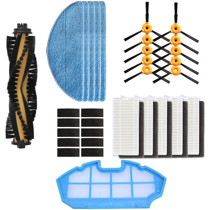 for frobot aspirador conga excellence robot Cleaner parts Main Side brush HEPA filter Mop kit for recambios conga excellence 990for frobot aspirador conga excellence robot Cleaner parts Main Side brush HEPA filter Mop kit for recambios conga excellence 990