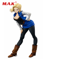 18cm Cartoon Anime Figure Dragon Ball Z Girls Gals Android 18 Lazuli Sexy PVC Action Figure Dragonbal Collection Model Dolls Toy